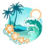 Disegno dell'oceano Fotografie Stock Libere da Diritti