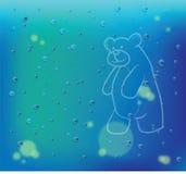 Disegno dell'orso sul vetro illustrazione vettoriale