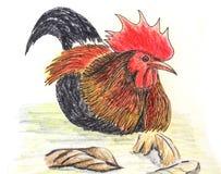 Disegno dell'uccello dei gallinacei di giungla illustrazione vettoriale