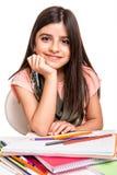 Disegno della bambina Immagini Stock Libere da Diritti