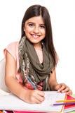 Disegno della bambina Fotografia Stock Libera da Diritti