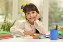 Disegno della bambina alla classe Immagine Stock Libera da Diritti