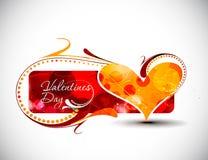 Disegno della bandiera di giorno dei biglietti di S. Valentino Fotografie Stock
