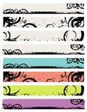 Disegno della bandiera di Web dell'ornamento Fotografia Stock Libera da Diritti