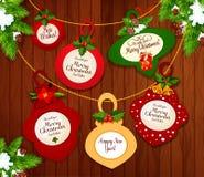 Disegno della cartolina d'auguri anno di nuovo e di natale royalty illustrazione gratis