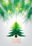 Disegno della cartolina d'auguri di natale royalty illustrazione gratis
