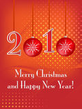 Disegno della cartolina di Natale Immagine Stock