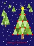 Disegno della cartolina di Natale Fotografie Stock