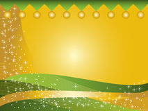 Disegno della cartolina di Natale Fotografie Stock Libere da Diritti