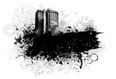 Disegno della città di Grunge Fotografia Stock Libera da Diritti