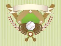 Disegno della cresta di baseball Fotografia Stock
