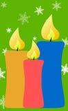 Disegno della decorazione della cartolina di Natale Fotografia Stock