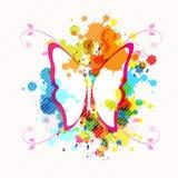 Disegno della farfalla di arte Fotografia Stock