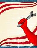 Disegno della Festa del Lavoro Fotografie Stock Libere da Diritti