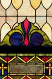 Disegno della finestra di vetro della macchia Fotografie Stock Libere da Diritti