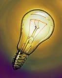 Disegno della lampadina Fotografie Stock