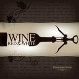 Disegno della lista di vino Immagine Stock Libera da Diritti