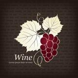 Disegno della lista di vino Fotografie Stock
