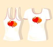 Disegno della maglietta Fotografia Stock