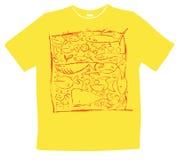 Disegno della maglietta Fotografia Stock Libera da Diritti