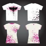 Disegno della maglietta Immagine Stock