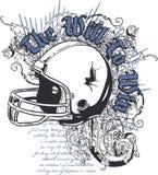 Disegno della maglietta del casco Fotografie Stock