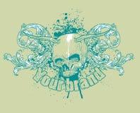 Disegno della maglietta del cranio Fotografie Stock Libere da Diritti