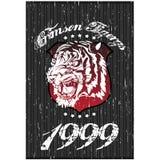Disegno della maglietta della tigre Fotografia Stock