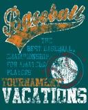 Disegno della maglietta di baseball Fotografia Stock Libera da Diritti