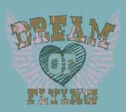 Disegno della maglietta di Grunge Fotografie Stock Libere da Diritti