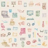 Disegno della mano di affari, illustrazioni di vettore Immagini Stock