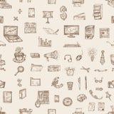 Disegno della mano di affari, illustrazioni di vettore Fotografia Stock
