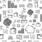 Disegno della mano di affari, illustrazioni di vettore Fotografia Stock Libera da Diritti
