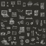 Disegno della mano di affari, illustrazioni di vettore Immagini Stock Libere da Diritti