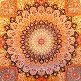 Disegno della moquette persiana Fotografia Stock Libera da Diritti