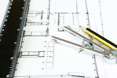 Disegno della nuova casa Fotografia Stock