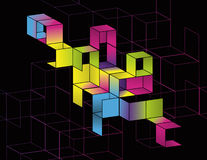Disegno della pagina del cubo di gradiente Immagine Stock