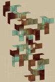 Disegno della pagina del cubo di gradiente Fotografia Stock Libera da Diritti