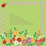 Disegno della pagina floreale Fotografia Stock Libera da Diritti