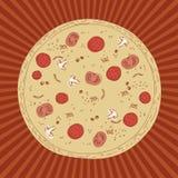Disegno della pizza Fotografia Stock