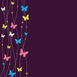 Disegno della priorità bassa con la farfalla. Fotografie Stock