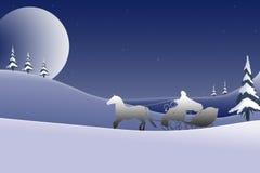 Disegno della priorità bassa della cartolina di Natale - 2 Immagine Stock