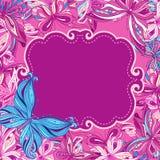Disegno della priorità bassa delle farfalle Fotografie Stock