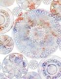 Disegno della priorità bassa di Doiley del Crochet fotografia stock