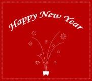 Disegno della priorità bassa di nuovo anno felice illustrazione vettoriale
