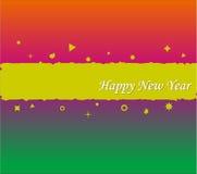 Disegno della priorità bassa di nuovo anno felice illustrazione di stock