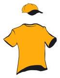 Disegno della protezione e della maglietta Illustrazione di Stock