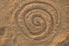 Disegno della sabbia Immagini Stock