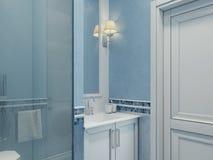 Disegno della stanza da bagno moderna Fotografia Stock