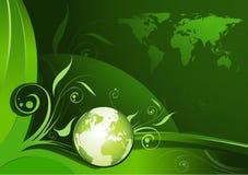 Disegno della terra verde Immagini Stock Libere da Diritti